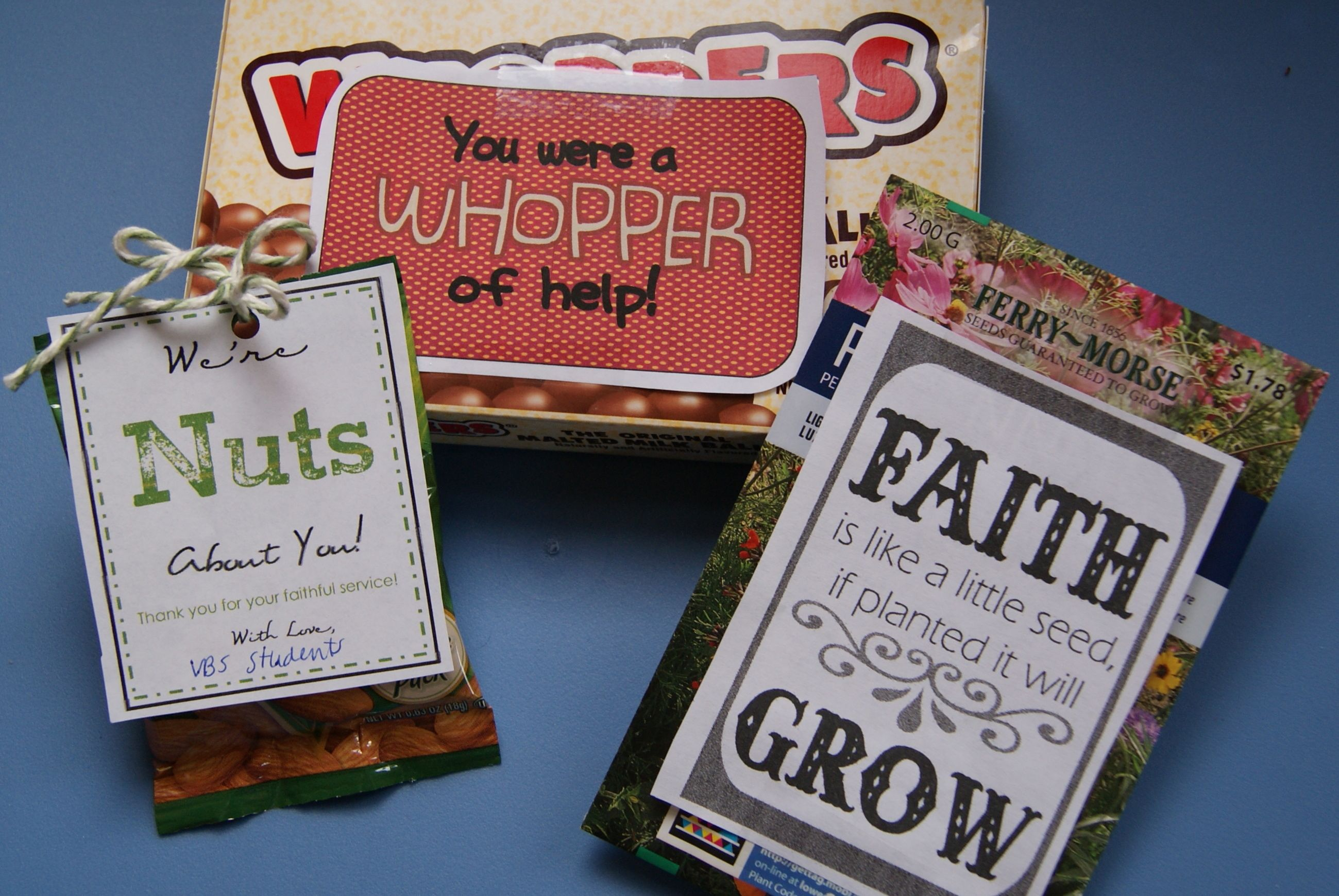 Classroom Recognition Ideas ~ Volunteer recognition gifts for sunday school vbs