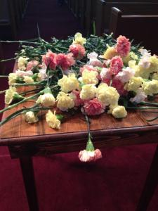 Flowers in memory of the saints in our lives. Photo Credit: Melissa Johnson